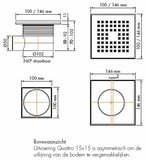 Doucheput-vloerput 15x15 Easydrain Quattro_