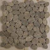 Mozaiek Marmer Ovaal Licht Grey MA-92  30x30 cm_