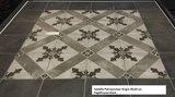 Patroontegel 20x20 cm Castello Grigio decor 2  artnr. 70092 Martello Home Collection_