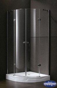 Douchecabine Kwartrond 2 deuren 90x90x192cm