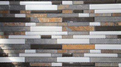 Mozaiek Wit Glas-Nature Stone 30x30