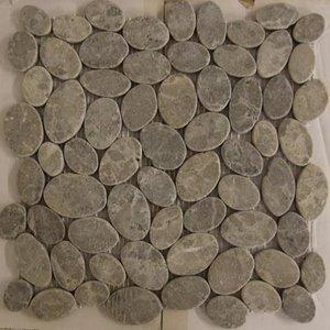 Mozaiek Marmer Ovaal Licht Grey MA-92  30x30 cm