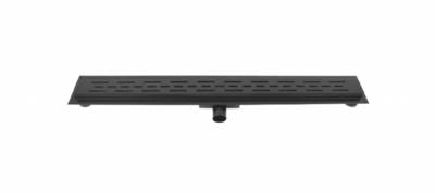 Drain 80 cm met Flens Mat Zwart / Inbouwdiepte slechts 70 mm met zij-uitlaat 40mm / geleverd met aansluitmof